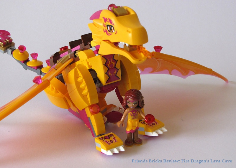 how to draw lego elves fire dragon