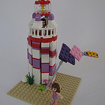 Kite-flying by the Lighthouse by legoMyMamma