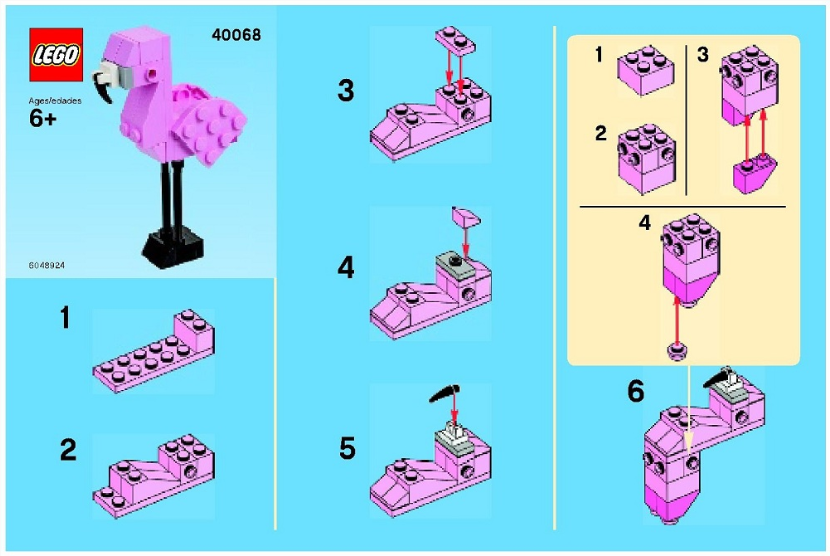 LEGO Pink Flamingo building instructions
