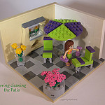 Spring cleaning the Patio by LegoMyMamma
