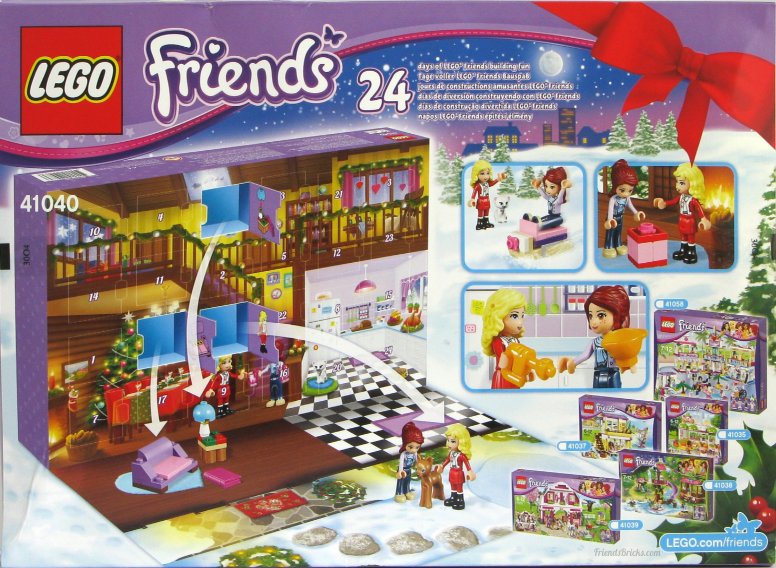 LEGO Friends Advent Calendar 2014 back of box