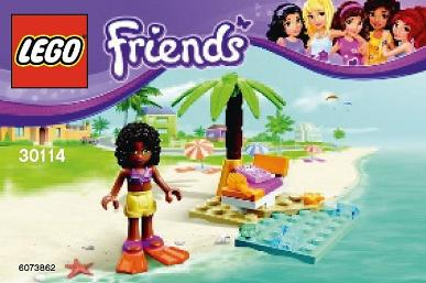 LEGO Friends Andrea's Beach Lounge polybag #30114