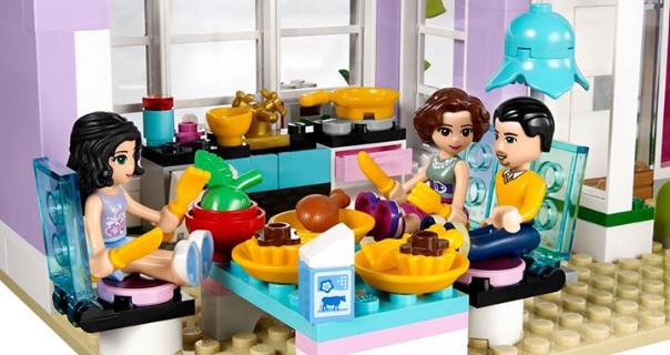 LEGO Friends Emma's House - inside Kitchen and Dining rooms
