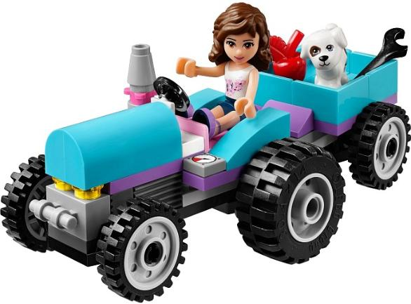 LEGO Friends Olivia on a tractor