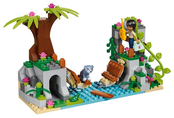 LEGO Friends Jungle Bridge Rescue #41036 Bear cub on bridge