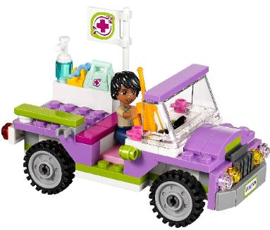 LEGO Friends Jungle Bridge Rescue - Matthew in Jeep