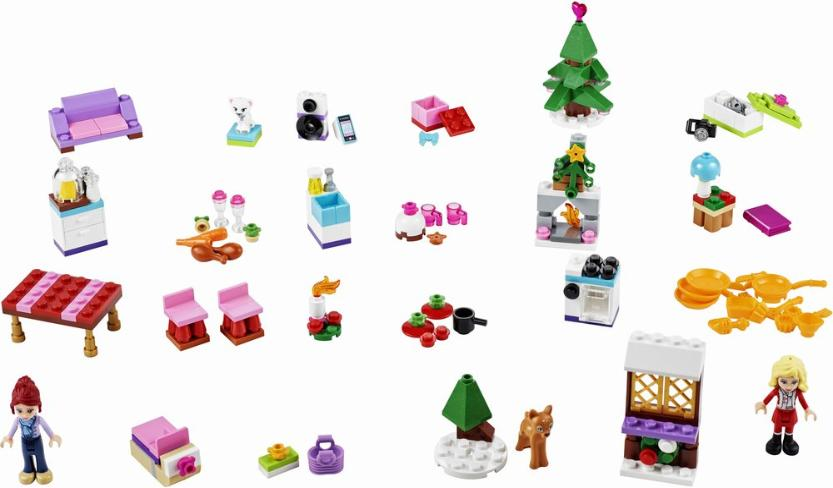 LEGO Friends 2014 Advent Calendar daily surprise builds #41040