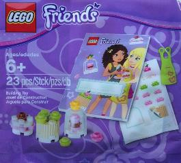 LEGO Friends promo polybag Bakery bricks apron stickers
