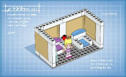 Friends bricks lego friends building instructions for Construction stages of building a house